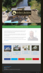 Kolbert Building Website Homepage