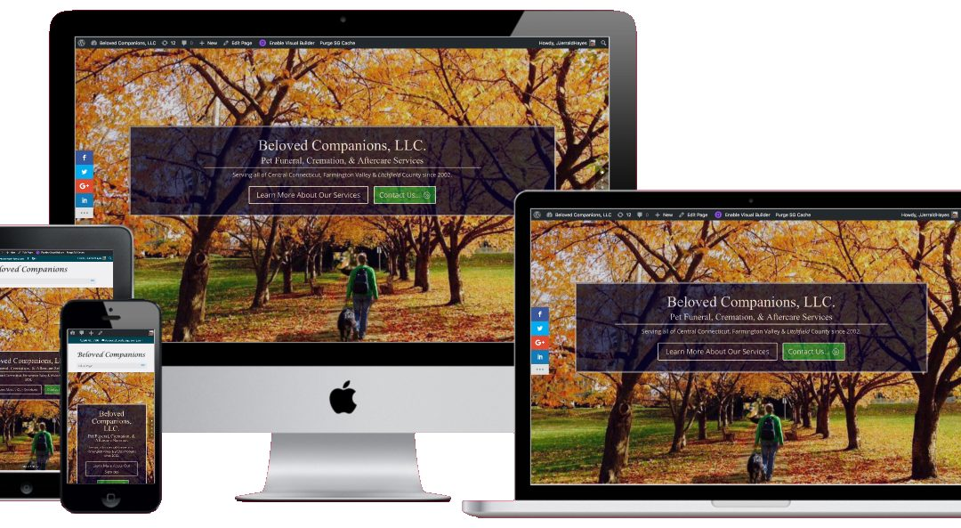 A New Website Design for BelovedCompanions.com in Avon CT