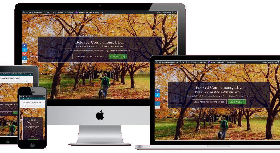 A New Website Design for BelovedCompanions.com in Avon CT